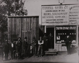 George Socking's Business, about 1896. Photo courtesy Ferry County Historical Society.