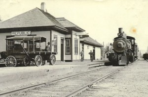 The early Republic Railroad. Photo courtesy Ferry County Historical Society.