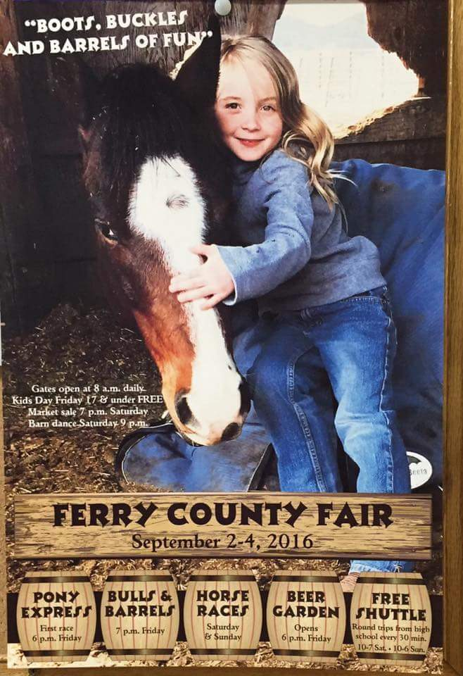 Ferry County Fair 2016 Poster and Event Details