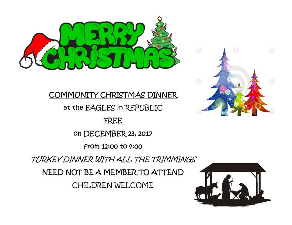 2017 Free Christmas Dinner Eagles