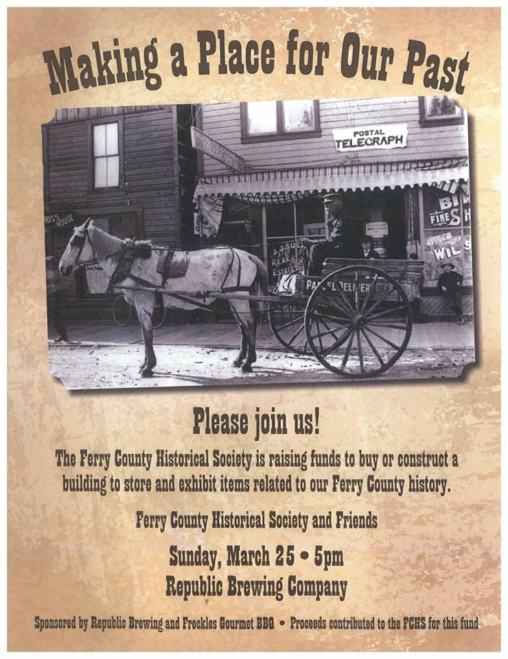 Fundraiser for Ferry County Historical Society