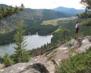 The pinnacle of the Pipsissewa Trail overlooking Bonaparte Lake